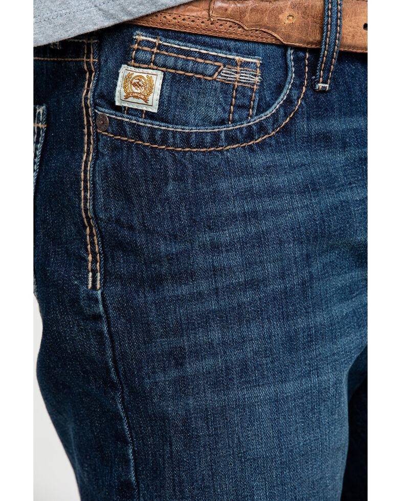 Cinch Men's Grant Dark Stone Mid Relaxed Boot Jeans , Indigo, hi-res