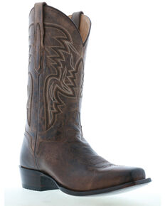 El Dorado Men's Rhodesian Leather Western Boots - Square Toe, Brown, hi-res