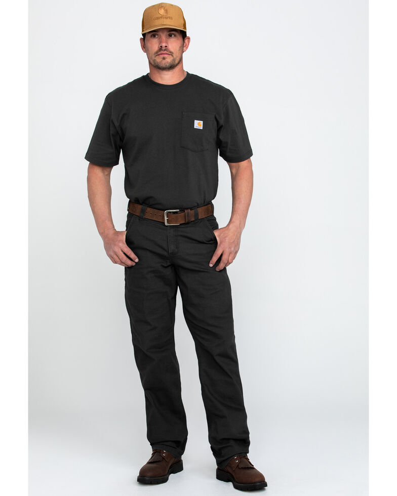 Carhartt Men's Peat Rugged Flex Rigby Dungaree , Loden, hi-res
