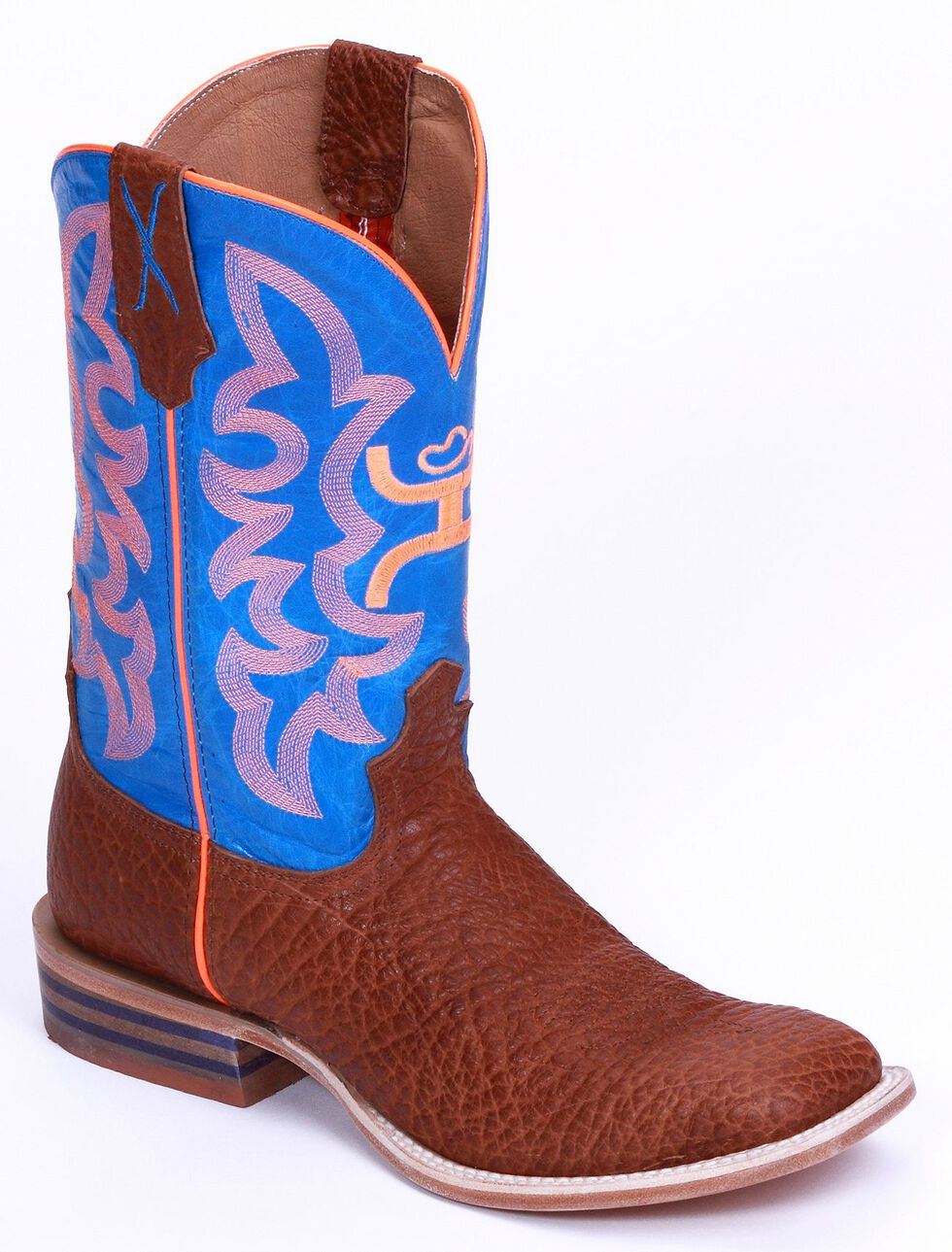Twisted X Youth Boys' Neon Cowboy Boots - Wide Square Toe, Cognac, hi-res