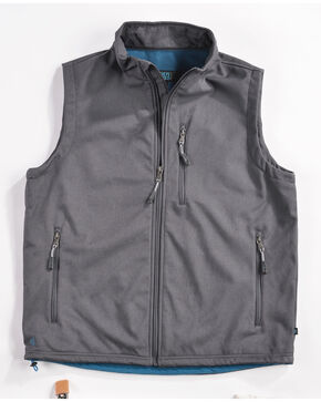Cody James Men's Zip Vest - Big & Tall, Charcoal, hi-res