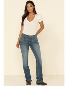 Ariat Women's R.E.A.L. Alabama Whitney Straight Jeans  , Blue, hi-res