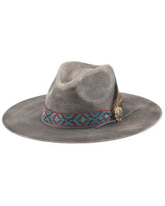 Bullhide Women's Distressed Black Stuck With You Western Straw Hat , Black, hi-res