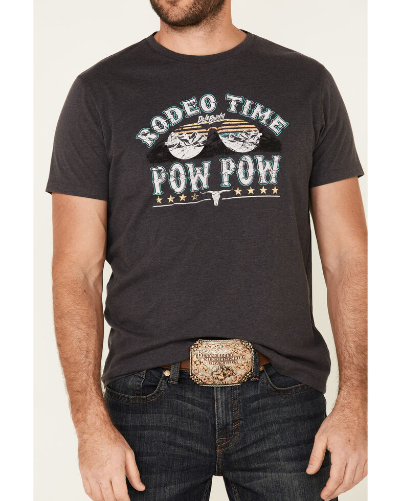 Dale Brisby Men's Charcoal Pow Pow Graphic T-Shirt , Charcoal, hi-res