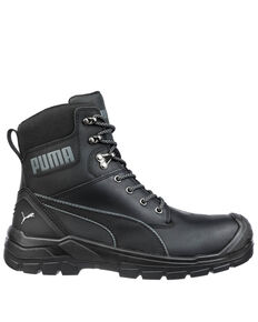 Puma Men's Black Conquest CTX Waterproof Work Boots - Composite Toe, Black, hi-res