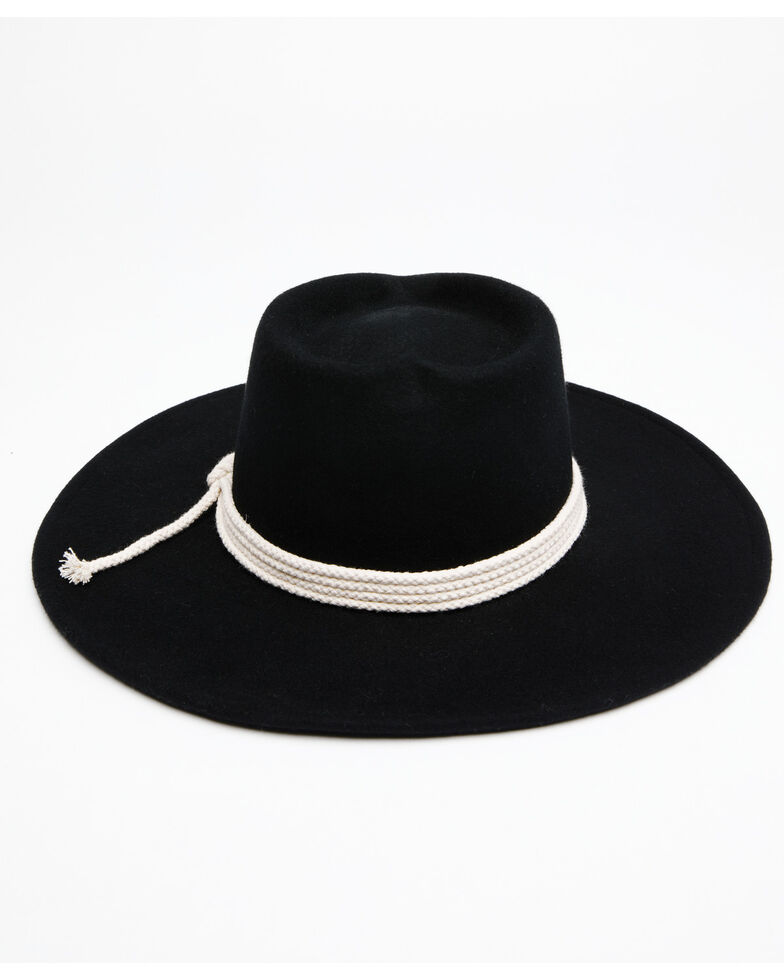 Peter Grimm Women's Black Mystique Wool Felt Western Hat , Black, hi-res