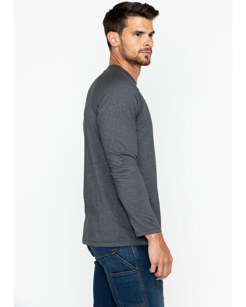 Carhartt Men's Solid Force Long Sleeve Work Shirt, Dark Grey, hi-res