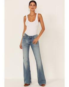Wrangler Women's Gianna Mid-Rise Flare Jeans, Light Blue, hi-res