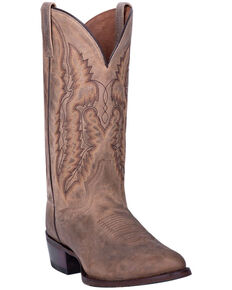 Dan Post Men's Jarrett Western Boots - Round Toe, Chestnut, hi-res