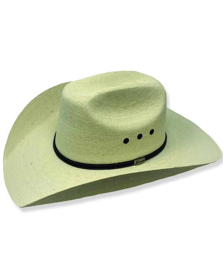 Atwood Men's Throroughbred Low Crown Palm Cowboy Hat , Natural, hi-res