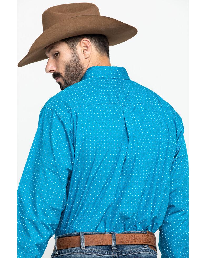Cinch Men's Turquoise Star Geo Print Long Sleeve Western Shirt - Big , Turquoise, hi-res