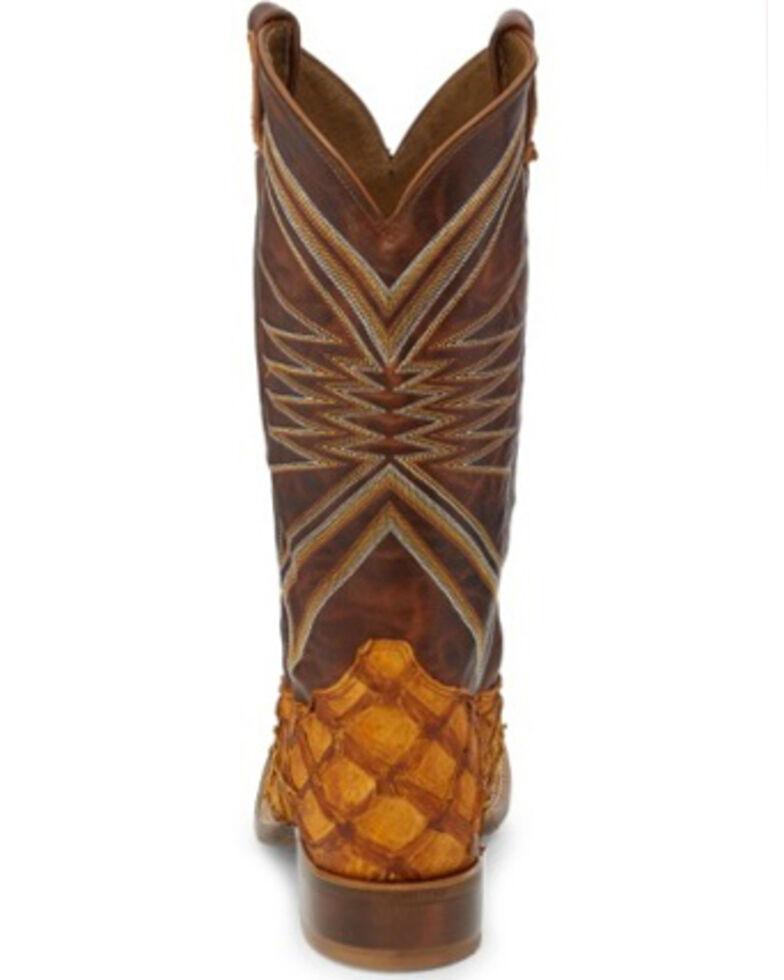 Tony Lama Men's Leviathan Cognac Western Boots - Square Toe, Cognac, hi-res
