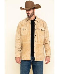 Moonshine Spirit Men's Auckland Long Sleeve Suede Shirt Jacket , Brown, hi-res