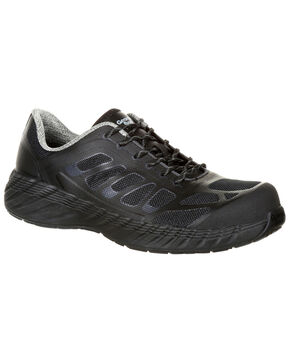 Georgia Boot Men's Reflex Athletic Work Shoes - Composite Toe, Black, hi-res
