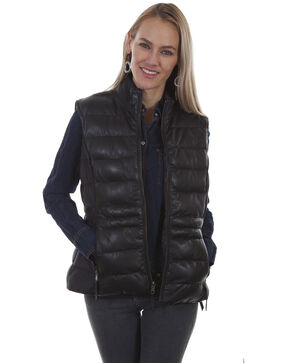 Leatherwear by Scully Women's Reversible Ribbed Vest, Black, hi-res