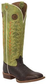 Tony Lama Verde Choco Jasper 3R Buckaroo Cowboy Boots - Square Toe , Chocolate, hi-res