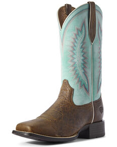 Ariat Women's Crunch Quickdraw Western Boots - Square Toe, Tan, hi-res