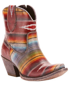 Ariat Women's Circuit Cruz Saddle Blanket Western Boots -  Snip Toe, Brown, hi-res
