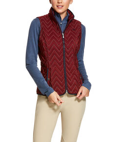 Ariat Women's Cabernet Ashley Vest, Wine, hi-res