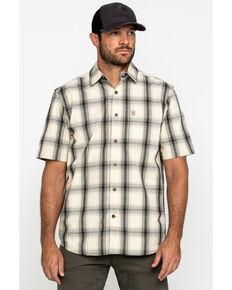 Carhartt Men's White Essential Plaid Short Sleeve Work Shirt , White, hi-res
