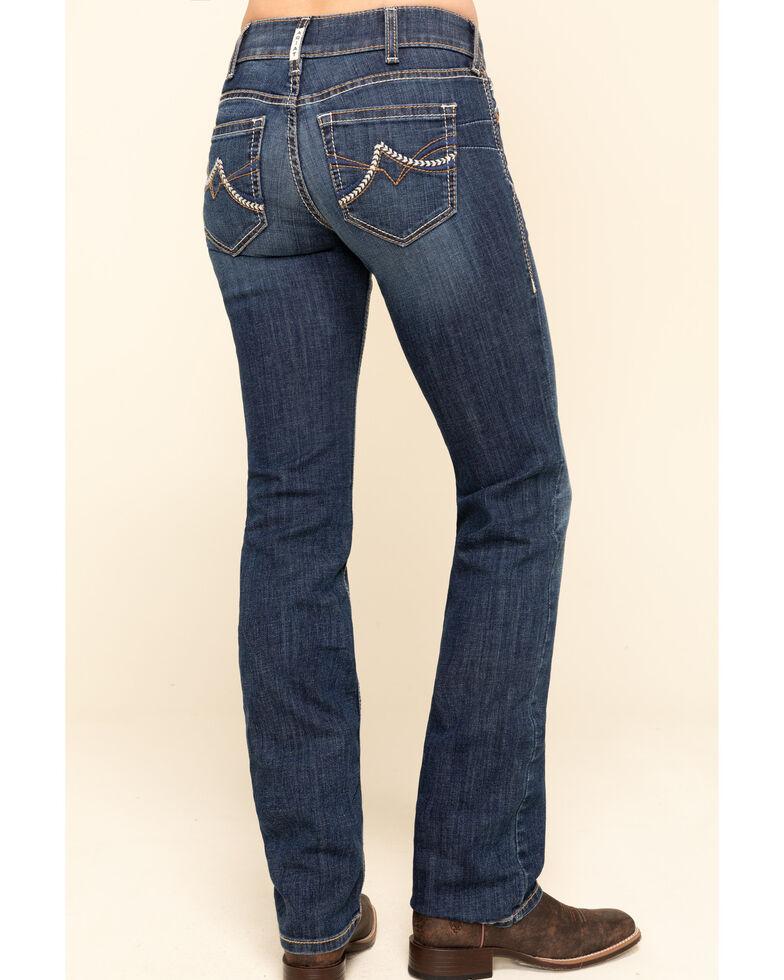 Ariat Women's R.E.A.L Dark Wash Brianne Straight Jeans , Blue, hi-res