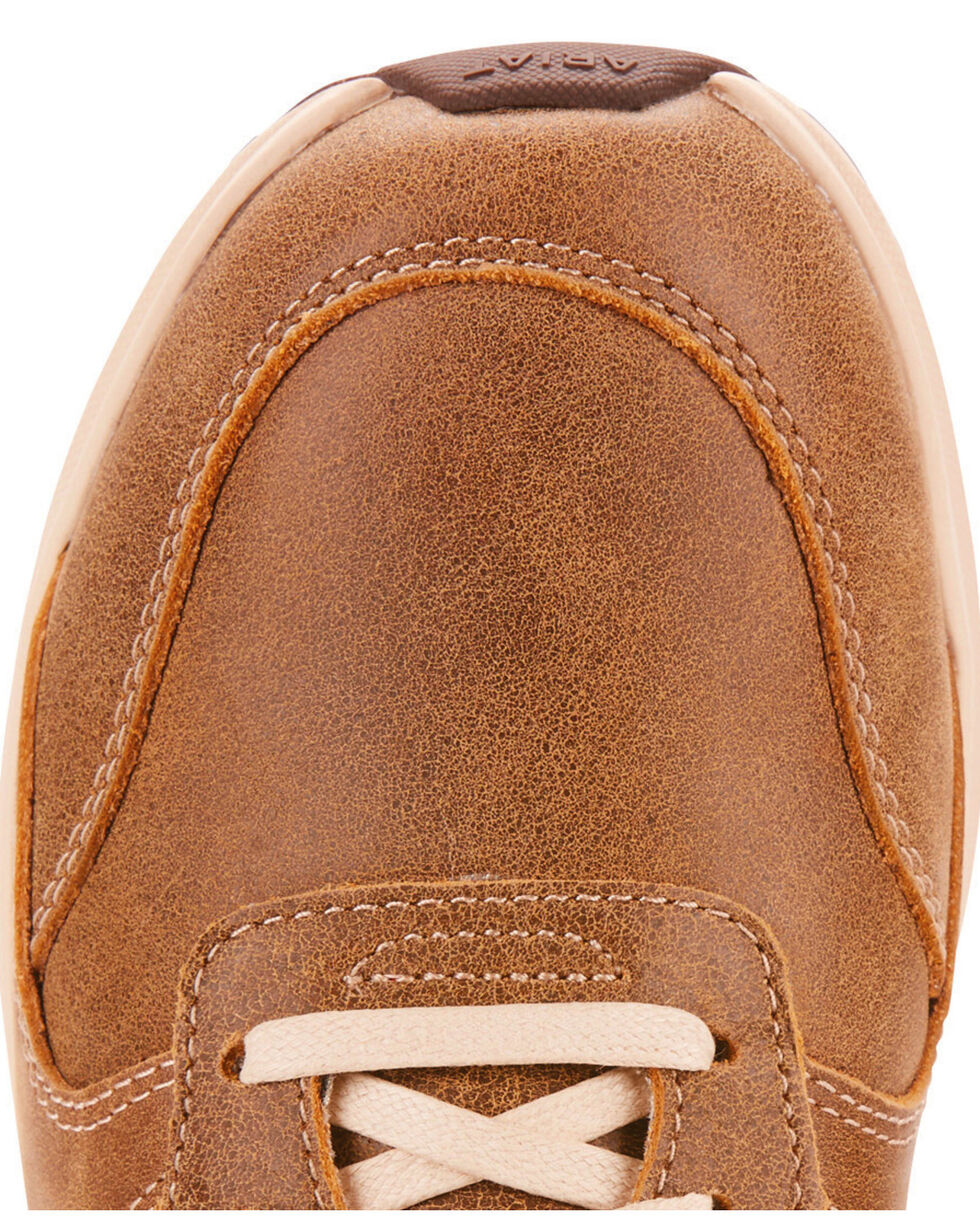 Ariat Women's Fuse Plus Brown Bomber Leather Shoes, Brown, hi-res
