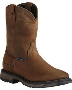 Ariat Men's WorkHog H2O Work Boots - Square Toe, Brown, hi-res