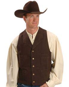 Rangewear by Scully Walnut Frontier Vest, Walnut, hi-res