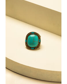 Idyllwind Women's A Hint Of Turquoise Ring, Bronze, hi-res