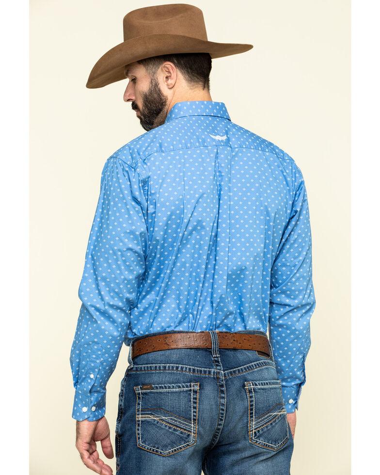 Ariat Men's Relentless Extreme Stretch Geo Print Long Sleeve Western Shirt , Blue, hi-res