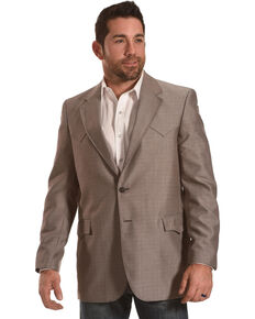 Circle S Men's Plano Nutmeg Sport Coat - Reg & Long, Tan, hi-res