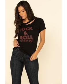 Idyllwind Women's Rock N' Roll Trustie Tee , Black, hi-res