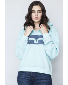 Kimes Ranch Women's Crafty Hood Colorblock Turquoise Hoodie, Turquoise, hi-res
