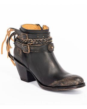 Idyllwind Women's Runaway Booties - Round Toe, Black, hi-res