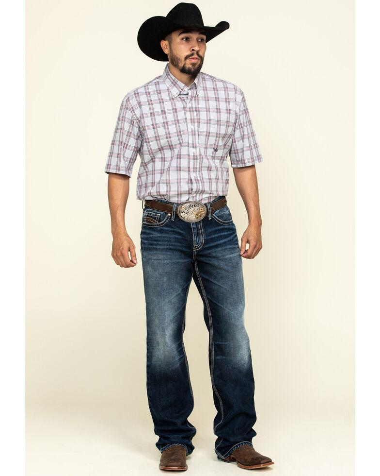 Roper Men's Amarillo Coal Creek Check Plaid Short Sleeve Western Shirt , Grey, hi-res