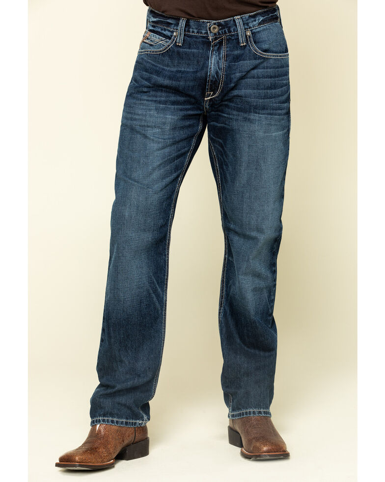 Ariat Men's M3 Bradford Dark Stackable Loose Straight Jeans - Big , Blue, hi-res