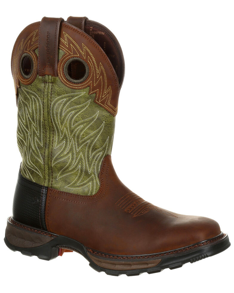 Durango Men's Maverick XP Waterproof Western Work Boots - Square Toe, Brown, hi-res