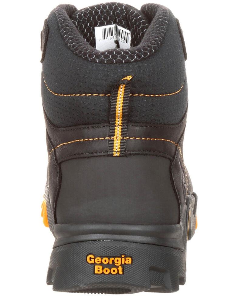 Georgia Boot Men's Amplitude Waterproof Work Boots - Round Toe, Black, hi-res