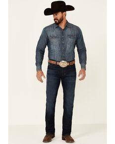 Rock & Roll Denim Men's Hooey Dark Wash Reflex Revolver Slim Straight Jeans , Blue, hi-res