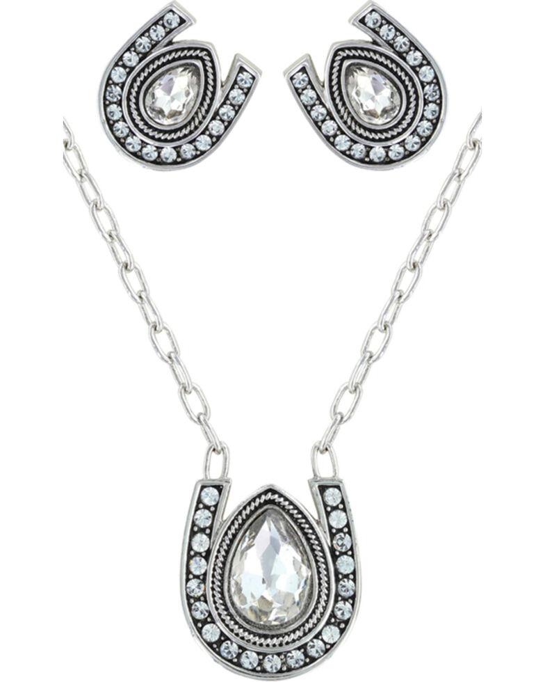 Montana Silversmiths Rider's Brilliant Raindrop Jewelry Set, Silver, hi-res