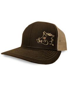 Oil Field Men's Brown Sniper Pig Logo Trucker Cap, Brown, hi-res