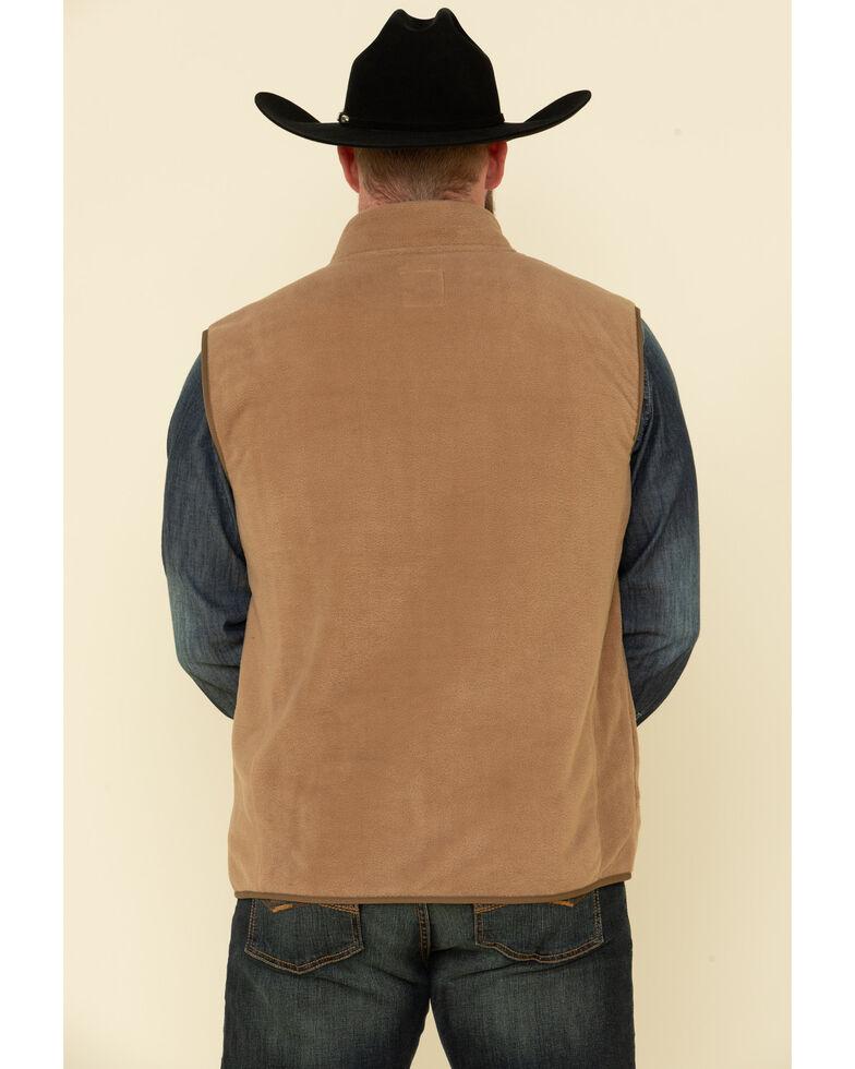 HOOey Men's Natural Fleece Zip-Up Vest , Natural, hi-res