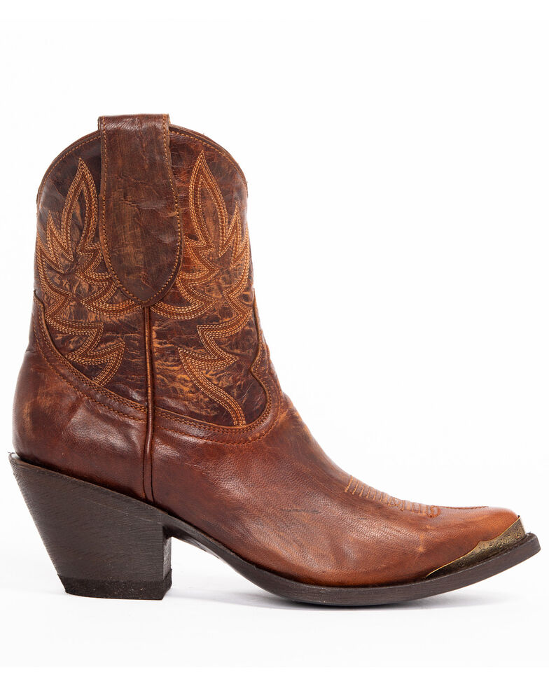 Idyllwind Women's Wheels Brown Western Booties - Pointed Toe, Brown, hi-res