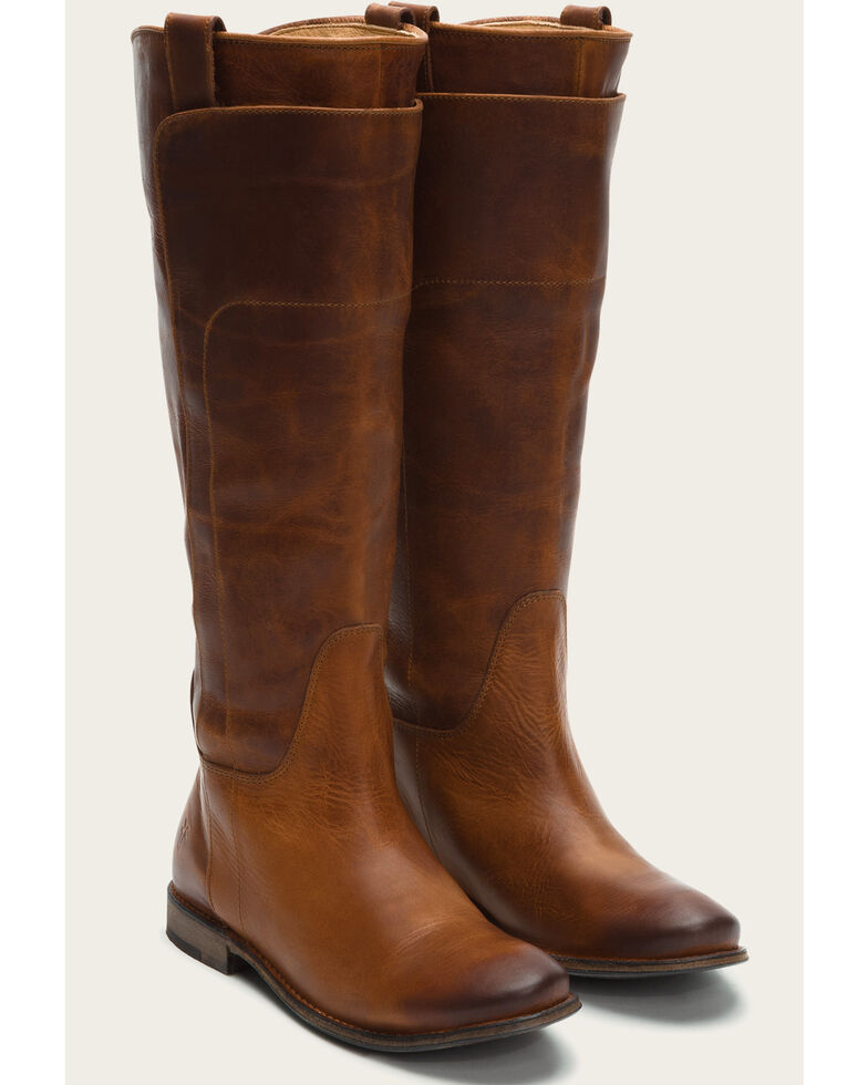 5adbeca18a35 Frye Women s Cognac Paige Tall Riding Boots - Round Toe - Country ...