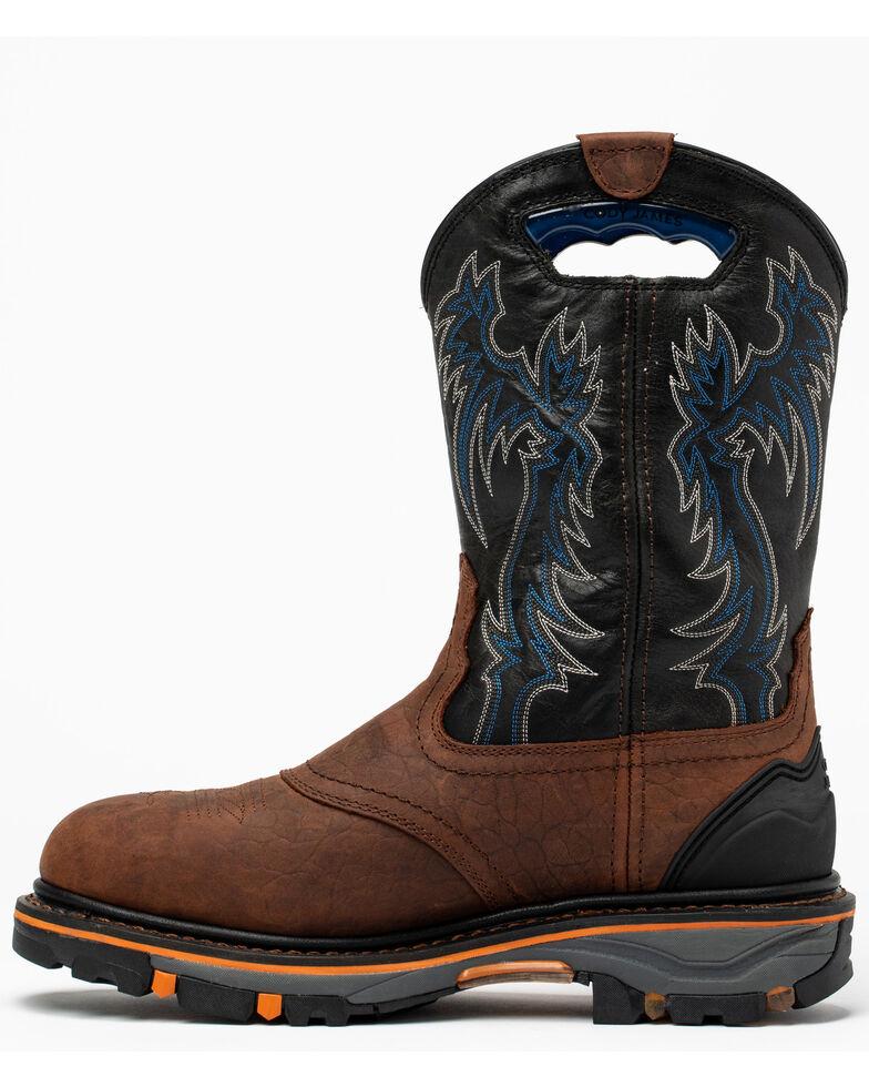 Cody James Men's Decimator Western Work Boots - Nano Composite Toe, Brown, hi-res
