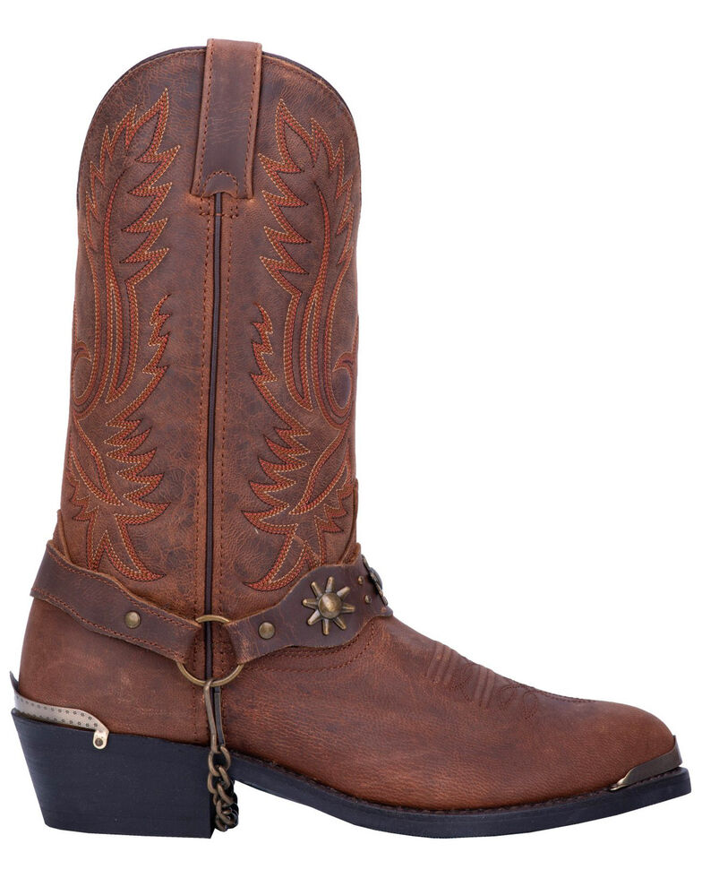 Dan Post Men's Harness Strap Western Boots - Medium Toe, Brown, hi-res