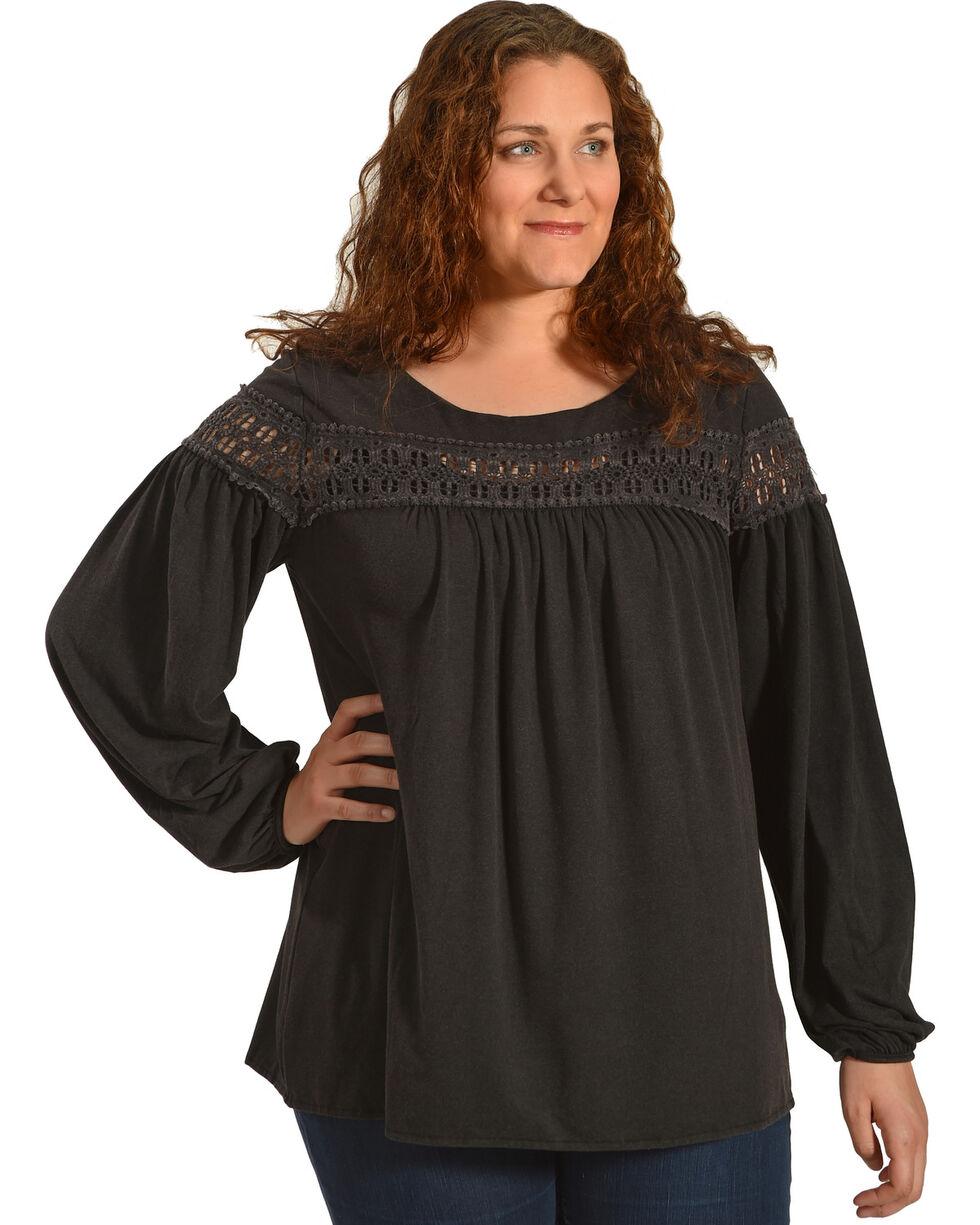 Angel Premium Women's Karlynn Top - Plus, Black, hi-res