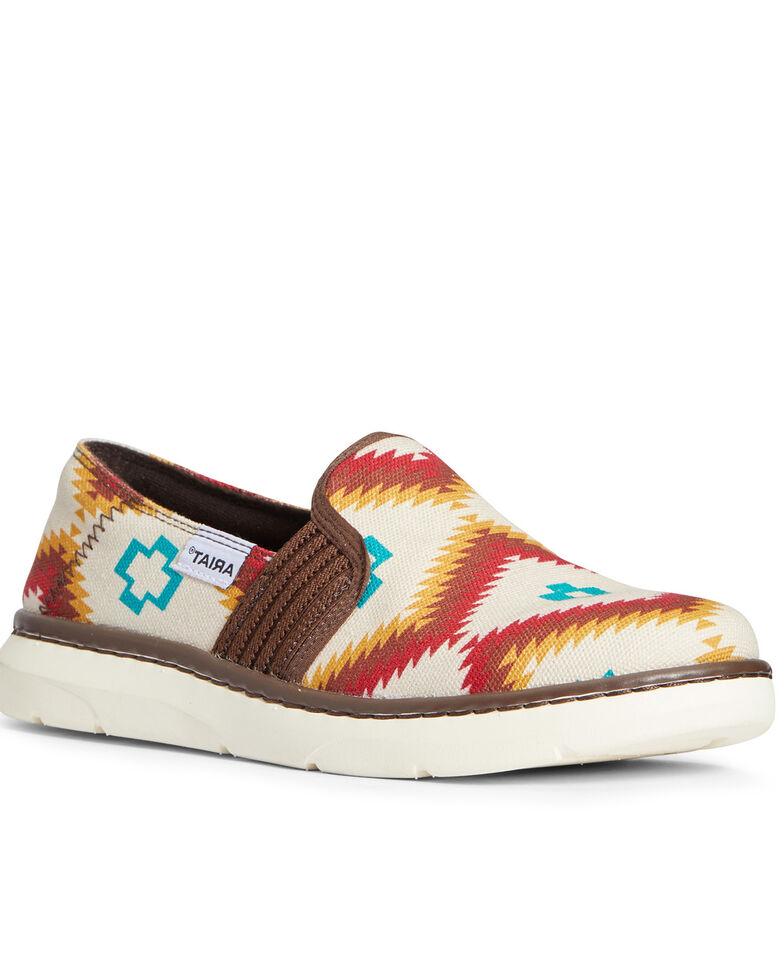 Ariat Women's Turquoise Ryder Shoes - Moc Toe, Multi, hi-res