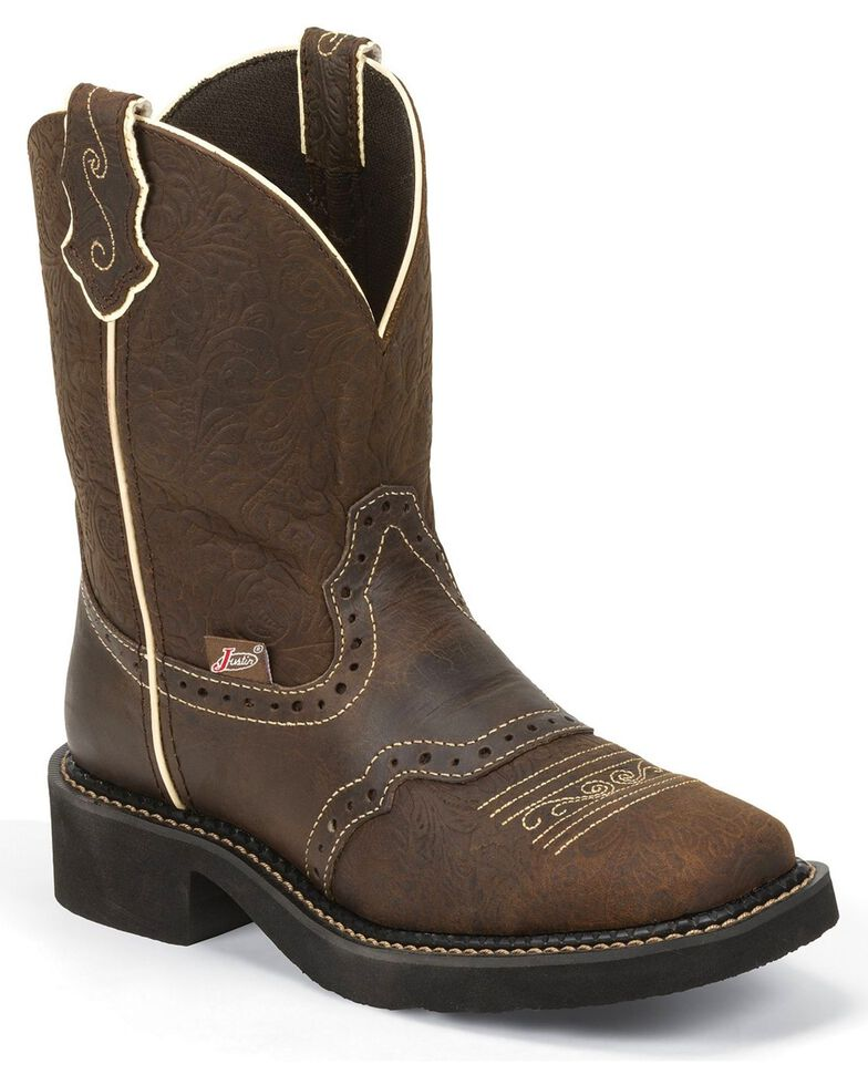 Justin Gypsy Women's Mandra Brown Cowgirl Boots - Square Toe, Brown, hi-res