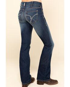 Ariat Women's R.E.A.L Blue Diamond Bootcut Jeans , Blue, hi-res